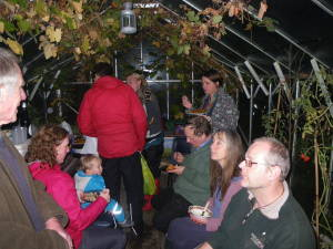 Scoffing in the greenhouse